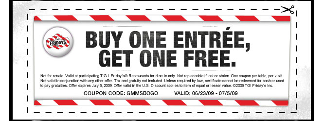 image relating to Tgifridays Printable Coupons named Tgi coupon - Airport tulsa all right